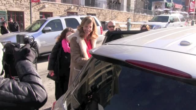 Allison Janney Celebrity Sightings in Park City on 1/19/13 in Park City Utah