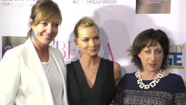 Allison Janney Jaime Pressly and Beth Hall at the BELLA New York Magazine Beauty Issue cover party at SUR Restaurant in West Hollywood at Celebrity...
