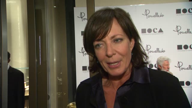 Allison Janney on being a part of the night why it's a fitting location for Pomellato what she appreciates about the brand why it's important to...
