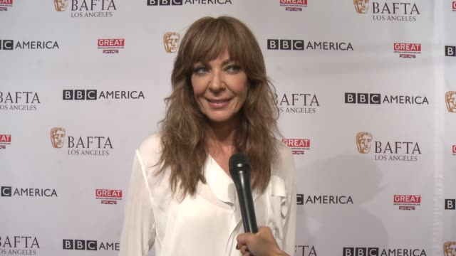 INTERVIEW Allison Janney on her first BAFTA tea party and why she came to support on Emmy weekend and what she loves about the celebration and on a...