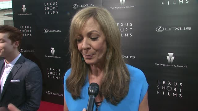 INTERVIEW Allison Janney on what she looks for in a short film on the event at The Weinstein Company Lexus Present 2nd Annual Lexus Short Films...