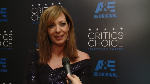 INTERVIEW Allison Janney on winning an award and on her series 'Mom' at the 2015 Critics' Choice Television Awards at The Beverly Hilton Hotel on May...