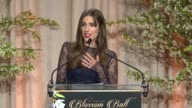 SPEECH Allison Williams at 8th Annual Blossom Ball To Benefit The Endometriosis Foundation Of America at Pier Sixty at Chelsea Piers on April 19 2016...