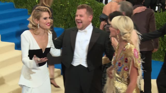 Allison Williams James Corden and Julia Carey at 'Rei Kawakubo/Comme des Garcons Art Of The InBetween' Costume Institute Gala Arrivals at The...