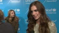 Allison Williams on Unicef and attending the ball at 2012 UNICEF Snowflake Ball Presented by Baccarat at Cipriani 42nd Street on November 27 2012 in...