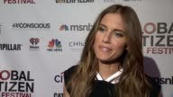 INTERVIEW Allison Williams says she is here because this is a good cause at 2014 Global Citizen Festival in Central Park at Central Park on September...