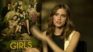 Allison Williams talks about Christopher Abbott suddenly departing 'Girls' for Season 3 at 'Girls' Interviews at on January 16 2014 in London Englanda