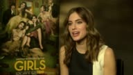 Allison Williams talks about the possibility of a 'Girls' movie at 'Girls' Interviews at on January 16 2014 in London England
