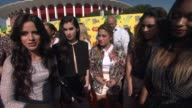 INTERVIEW Ally Brooke Hernandez Normani Hamilton Dinah Jane Hansen Camila Cabello and Lauren Jauregui of Fifth Harmony on being at the Kids' Choice...