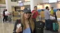 INTERVIEW Ally Brooke talks about the deaf girl on XFactor while departing at LAX Airport in Los Angeles in Celebrity Sightings in Los Angeles