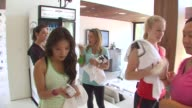 Ally Maki and Leven Rambin at the Muscle Milk Women's Fitness Retreat at Beverly Hills CA