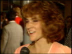 Ally Sheedy at the 'Hail Hail Rock and Roll' Premiere on January 1 1988