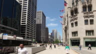 HYPERLAPSE along North Michigan Avenue