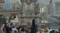 LS TU along Pestsaule on Hauptplatz (main square)
