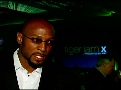 Alonzo Mourning on Tiger Woods and his efforts and contributions and on people who are a positive influence on children at the Tiger Jam X Presented...