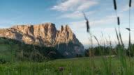 Alpe di siusi seiser alm , Italy european Alpine alps landscape nature in sunrise time , dolomites Italy