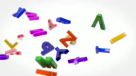 Alphabet Letters Background Loop - Colorful (Full HD)