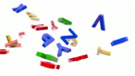 Alphabet Letters Background Loop - Primary Colors (Full HD)