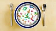 Alphabet soup plate