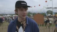 INTERVIEW Alt J at Glastonbury 2013 on their next at Worthy Farm on June 28 2013 in Glastonbury England