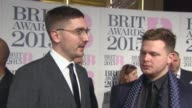 INTERVIEW Alt J on being at the awards at The BRIT Awards 2015 at The O2 Arena on February 25 2015 in London England