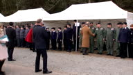 Alternate angle Duke and Duchess of Cambridge join Prince Charles to open outdoor centre SCOTLAND Ayrshire Cumnock Dumfries House EXT **Music heard...