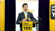 Nick Clegg speech for 'Yes' campaign Nick Clegg speech SOT For years now huge numbers of people have chosen not to vote because they think it doesn't...