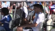 Alvaro Morata of Real Madrid Teammates departs practice at UCLA in Los Angeles 08/02/13