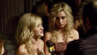 Aly and AJ Michalka at the Teen Vogue Young Hollywood Party at Vibiana in Los Angeles California on September 20 2007