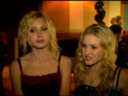 Aly Michalka and AJ Michalka on supporting the cause of children on knowledge being power on writing songs about children's causes at the Amberwatch...