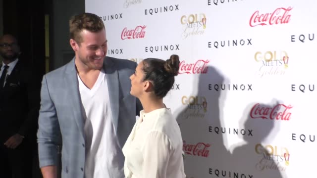 Aly Raisman and Colton Underwood at the Gold Meets Golden Benefit at Equinox Sports Club West LA on January 07 2017 in Los Angeles California