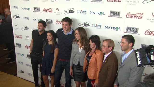 Aly Reisman Bart Conner Evan Lysacek Lenny Krayzelburg Nadia comaneci Natalie Coughlin Nathan Adrian Rebecca Soni at CW3PR Presents Gold Meets Golden...