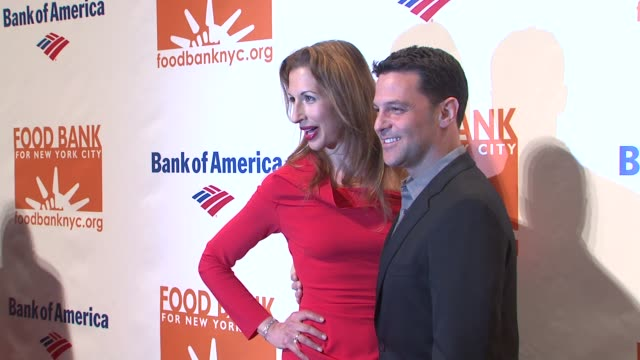 Alysia Reiner and David Alan Basche at 2014 Food Bank Of New York City Can Do Awards at Cipriani Wall Street on April 09 2014 in New York City