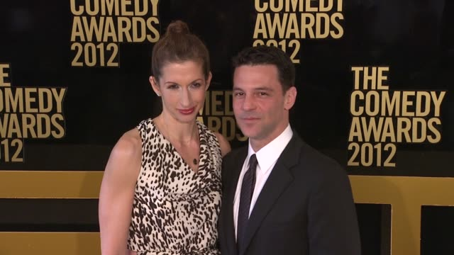 Alysia Reiner and David Alan Basche at The Comedy Awards 2012 Arrivals on 4/28/2012 in New York NY United States