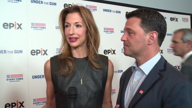 INTERVIEW Alysia Reiner on supporting the film at The New York Premiere Of EPIX's 'Under the Gun' Arrivals at Walter Reade Theater on May 12 2016 in...
