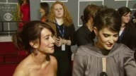 Alyson Hannigan and Cobie Smulders on the event at the 2007 Grammy Awards Arrival Interviews at Staples Center in Los Angeles California on February...