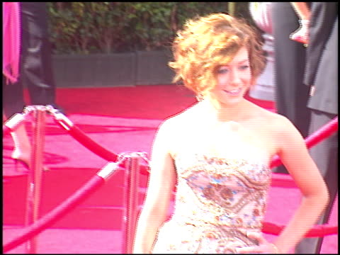 Alyson Hannigan at the 2005 Emmy Awards entrances at the Shrine Auditorium in Los Angeles California on September 18 2005