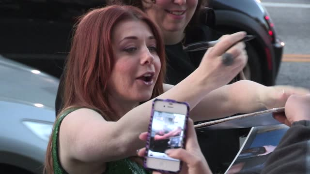 Alyson Hannigan greets fans at the American Reunion Premiere in Hollywood 03/19/12 Alyson Hannigan greets fans at the American Reunio on March 19...