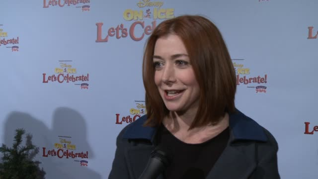 INTERVIEW Alyson Hannigan on being a part of the event her family's favorite Disney character how she's spending the holidays at Disney On Ice...
