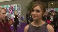 Alyson Stoner on atmosphere on experience in the UK on matching the purple carpet on her part on Jonas Brother fans on her friends reaction to her...