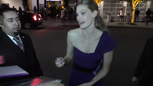 Alyssa Sutherland at the 2015 Entertainment Weekly PreEmmy Party at Fig and Olive in West Hollywood at Celebrity Sightings in Los Angeles on...