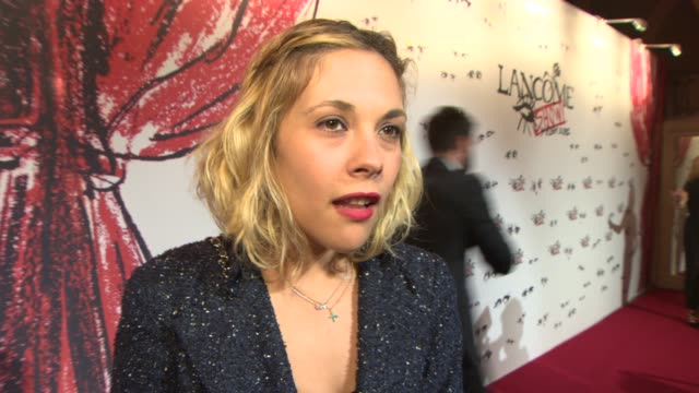 INTERVIEW Alysson Paradis on Lancome what it means to her at Lancome Lanvin party on July 02 2013 in Paris France