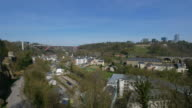 Alzette Valley and Bridge Grand-Duchesse Charlotte, Luxembourg City, Grand Duchy of Luxembourg