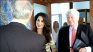 Amal Clooney supports Greek claim on the Elgin Marbles GREECE Athens Amal Clooney and Geoffrey Robertson shaking hands with others as arriving at...