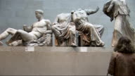 Amal Clooney supports Greek claim on the Elgin Marbles R20100912 / London British Museum INT Various of Elgin Marbles on display including some close...