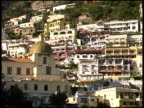 Amalfi Coast Buildings on Hillside From Boat: Italy
