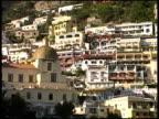 Amalfi Coast Buildings on Hillside From Boat: Italy