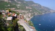 Amalfi Coast, view of the village Positano