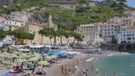 Amalfi from Harbour, Amalfi, Costiera Amalfitana (Amalfi Coast), UNESCO World Heritage Site, Campania, Italy, Europe