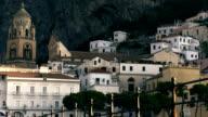 Amalfi town at sunrise